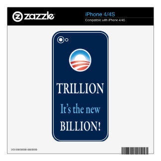 TRILLION IS THE NEW BILLION DECALS FOR iPhone 4