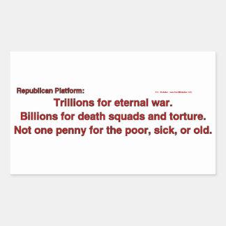 TrillionsEternalWar Rectangular Stickers