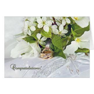 Trillium Bridal Bouquet Card