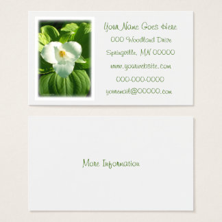 Trillium Flower Business Card