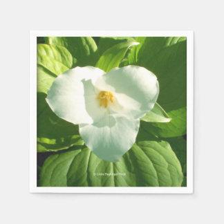 Trillium Flower Napkin