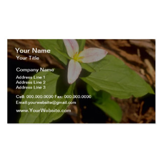 Trillium flowers business card