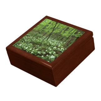 Trillium Heaven tile-top wood box