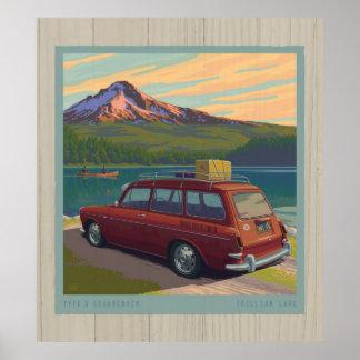 Trillium Lake, no license plate Poster