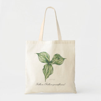 Trillium (Trillium grandiflorum) Tote Bag