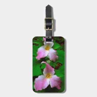 Trillium Wildflower Bag Tag