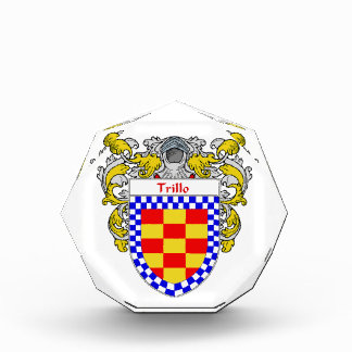 Trillo Coat of Arms Family Crest Awards