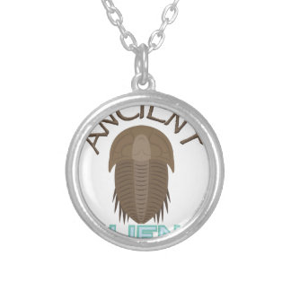 Trilobite Ancient Aliens Silver Plated Necklace