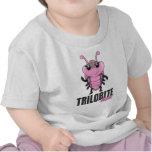 Trilobite clasificó - al chica (tri) camiseta