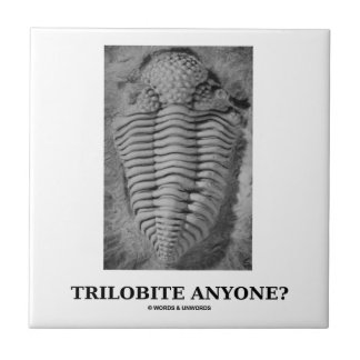 ¿Trilobite cualquier persona? (Trilobite fosilizad Azulejo Cuadrado Pequeño