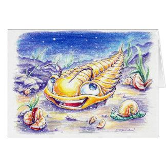 Trilobite en el mar felicitaciones