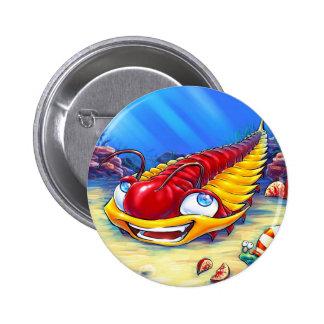 Trilobite en el mar pin redondo 5 cm