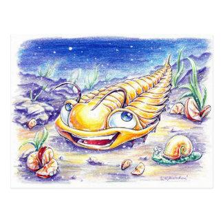 Trilobite en el mar postal
