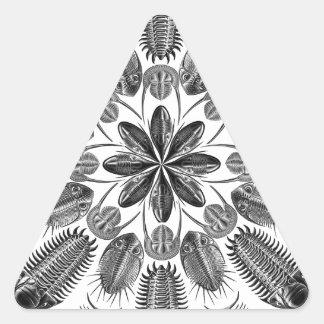 Trilobite Mandala Triangle Sticker