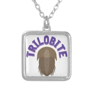 Trilobite Silver Plated Necklace