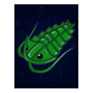 Trilobite verde tarjetas postales
