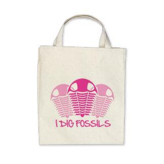TRILOBITES rosado Bolsas Lienzo