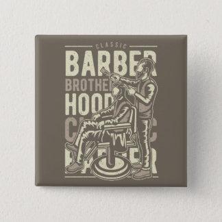 Trim your beard | Classic Vintage Barber Shop Pinback Button