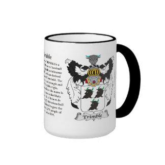 Trimble Family Coat of Arms Ringer Coffee Mug