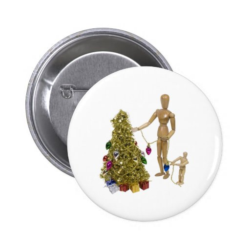 TrimChristmasTree120409 copy Pinback Button