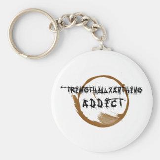 TriMeth Addict Keychain Basic Round Button Keychain