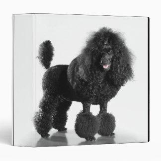 Trimmed black Poodle 3 Ring Binders
