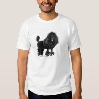 Trimmed black poodle t shirt