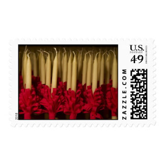 Trimmed Lovefeast Candles Postage Stamps