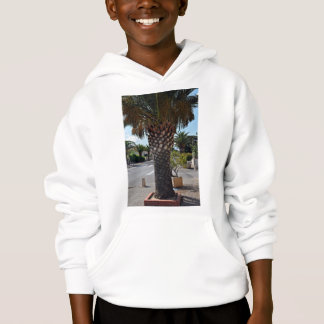 Trimmed palm tree close up hoodie