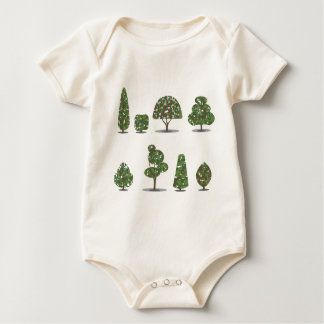 Trimmed tree bush collection Stylized Baby Bodysuit