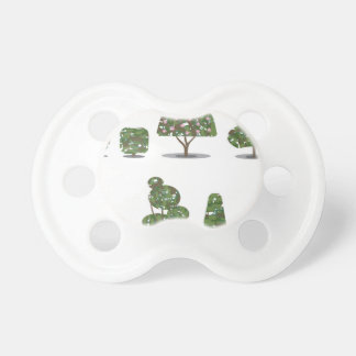 Trimmed tree bush collection Stylized Pacifier