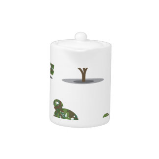 Trimmed tree bush collection Stylized Teapot