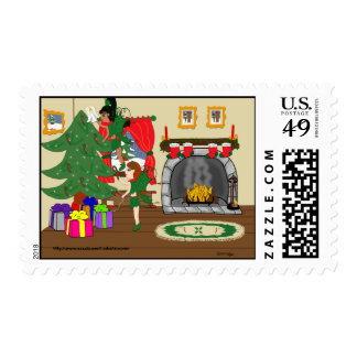 Trimming the Tree Postage