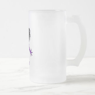Trina Frosted Glass Beer Mug