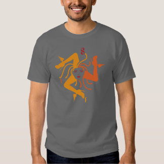 trinacria grey t shirt