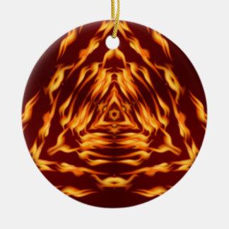 Trinary Fire Ceramic Ornament