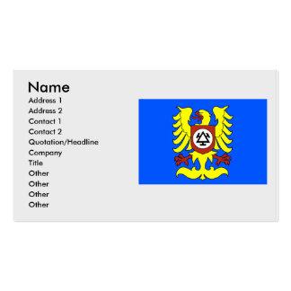 Trinec, checo tarjetas de visita