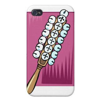 Trineo Belces con el fondo rosado iPhone 4 Protector