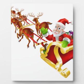 Trineo de Papá Noel del navidad del dibujo animado Placas
