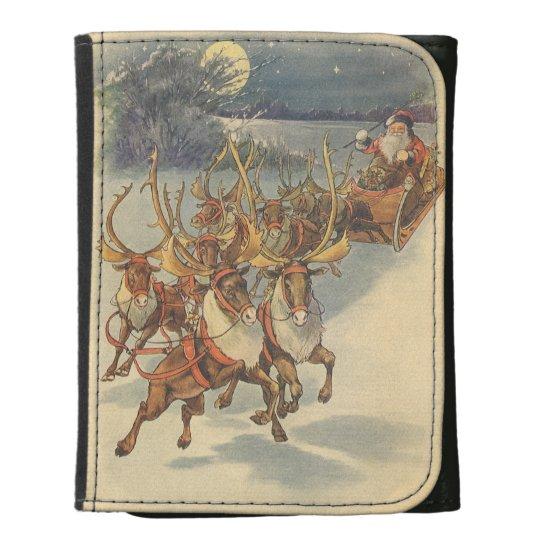 Trineo de Papá Noel del navidad del vintage con el