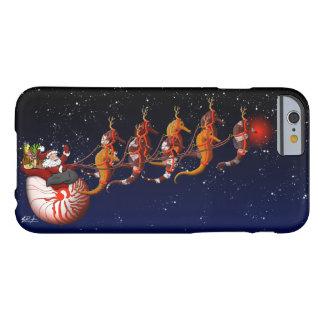 Trineo de Santa y del Seahorse Funda De iPhone 6 Barely There