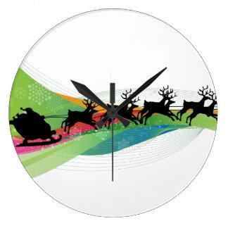 Trineo de Santa y reloj del reno