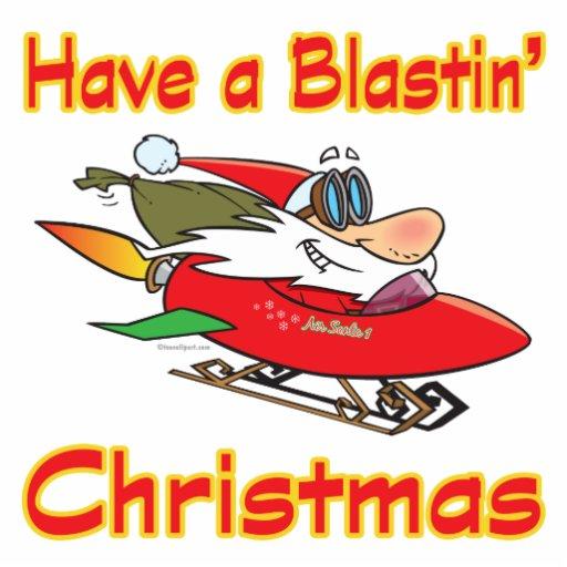 trineo de voladura santa del cohete del navidad llavero fotográfico