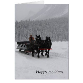 Trineo del caballo en Lake Louise Tarjetón