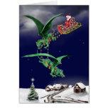 Trineo del dragón de Santas Felicitación