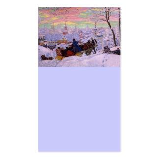 Trineo del invierno - día de fiesta de Shrovetide Tarjetas De Visita