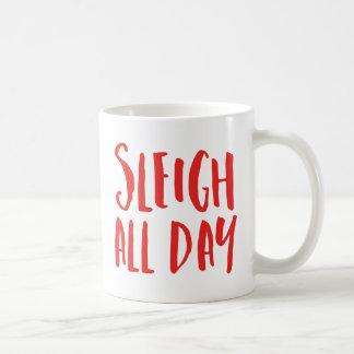 Trineo todo el día taza de café