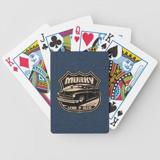 Trineo vergonzoso de la ventaja barajas de cartas