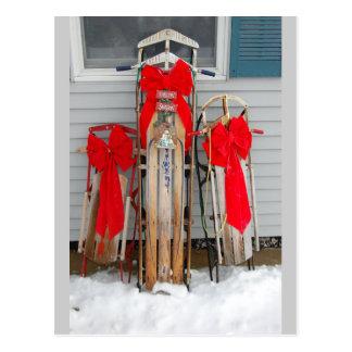 Trineos del navidad postales