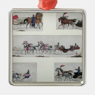 Trineos traídos por caballo rusos ornamentos de reyes
